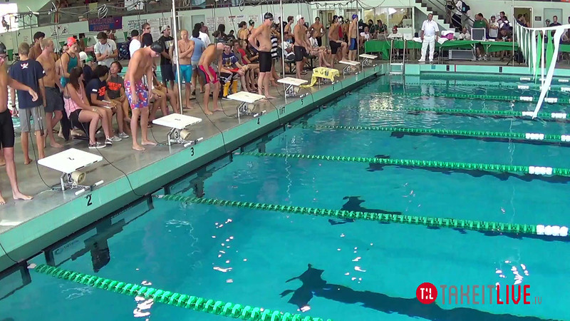 Men's 100 Freestyle B Final - 2014 CCCA Swimming and Diving State Championships