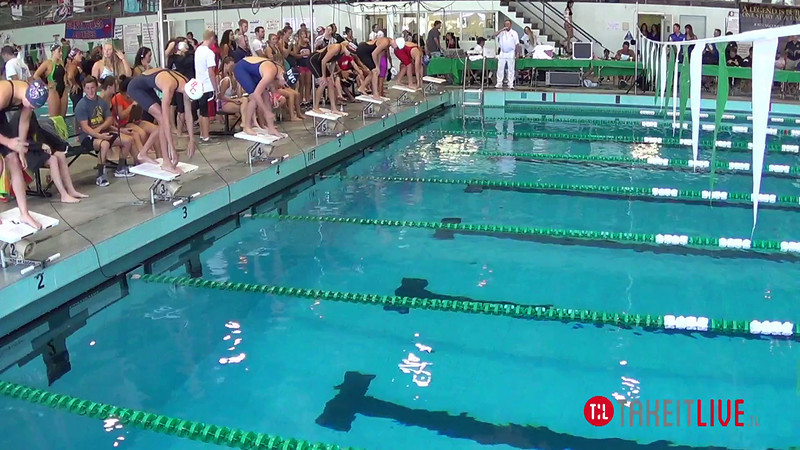 Women's 200 Freestyle Heat 2 - 2014 CCCA Swimming and Diving State Championships