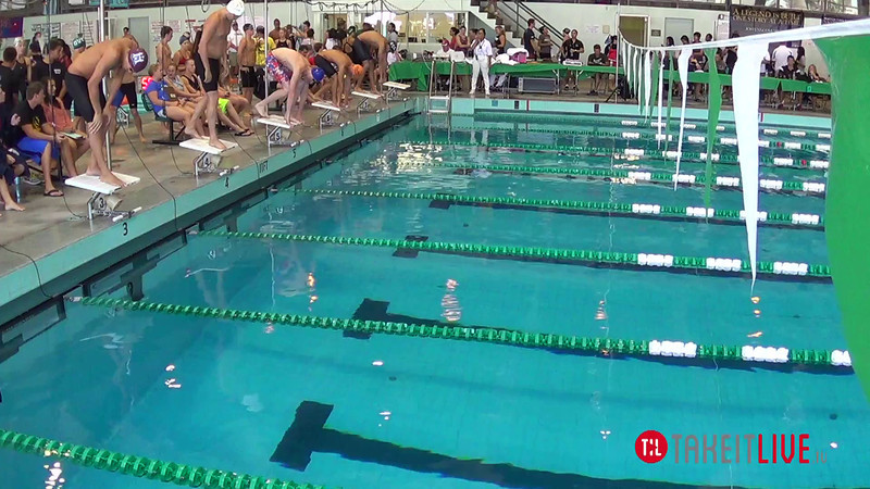 Men's 200 Breaststroke Heat 1 - 2014 CCCA Swimming and Diving State Championships