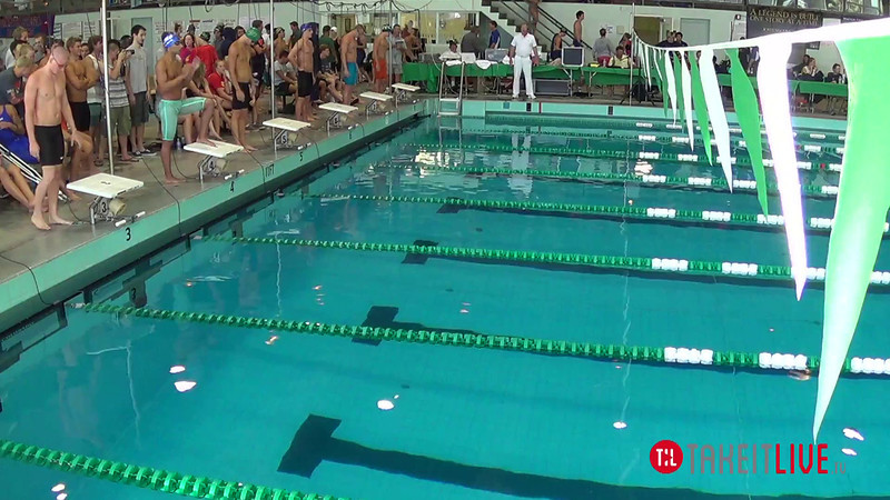 Men's 100 Butterfly B Final - 2014 CCCA Swimming and Diving State Championships