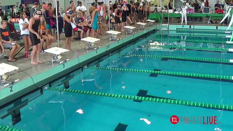 Women's 100 Individual Medley B Final - 2014 CCCA Swimming and Diving State Championships