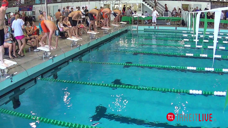 Men's 200 Individual Medley Heat 1 - 2014 CCCA Swimming and Diving State Championships
