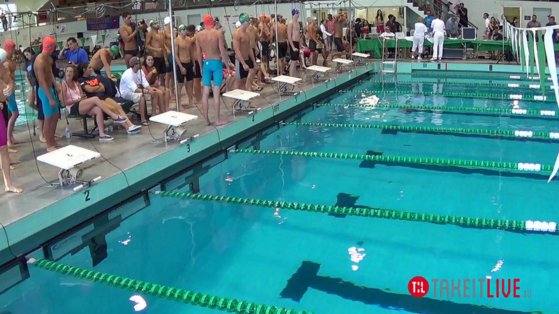 Men's 400 Freestyle Relay A Final - 2014 CCCA Swimming and Diving State Championships