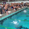 Men's 400 Medley Relay Heat 2 - 2014 CCCA Swimming and Diving State Championships