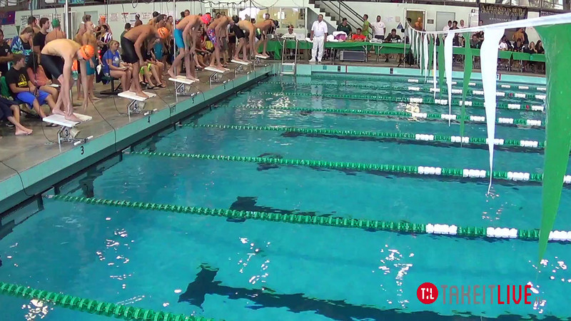 Men's 100 Freestyle Heat 3 - 2014 CCCA Swimming and Diving State Championships
