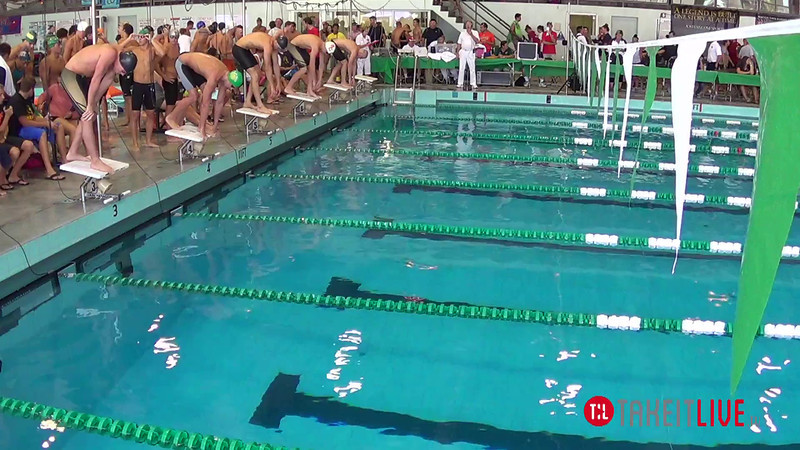 Men's 400 Freestyle Relay Heat 2 - 2014 CCCA Swimming and Diving State Championships