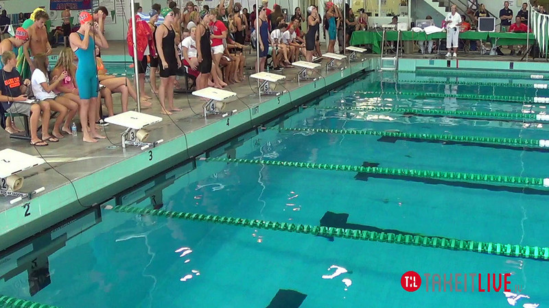 Women's 50 Freestyle A Final - 2014 CCCA Swimming and Diving State Championships