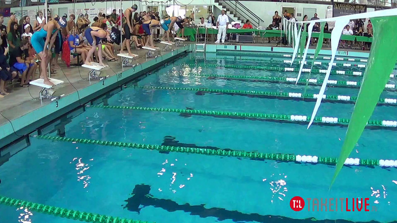 Women's 100 Freestyle Heat 2 - 2014 CCCA Swimming and Diving State Championships