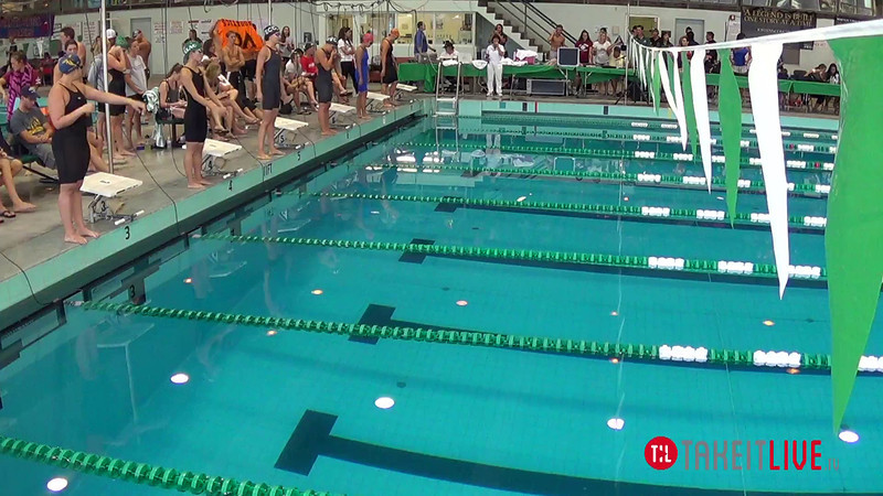 Women's 50 Backstroke B Final - 2014 CCCA Swimming and Diving State Championships