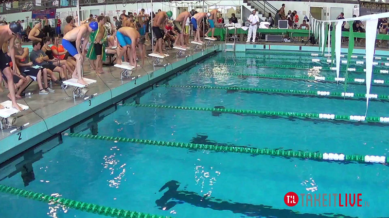 Men's 200 Freestyle Heat 3 - 2014 CCCA Swimming and Diving State Championships