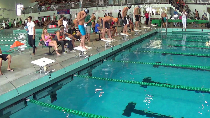 Men's 500 Freestyle Heat 1 - 2014 CCCA Swimming and Diving State Championships