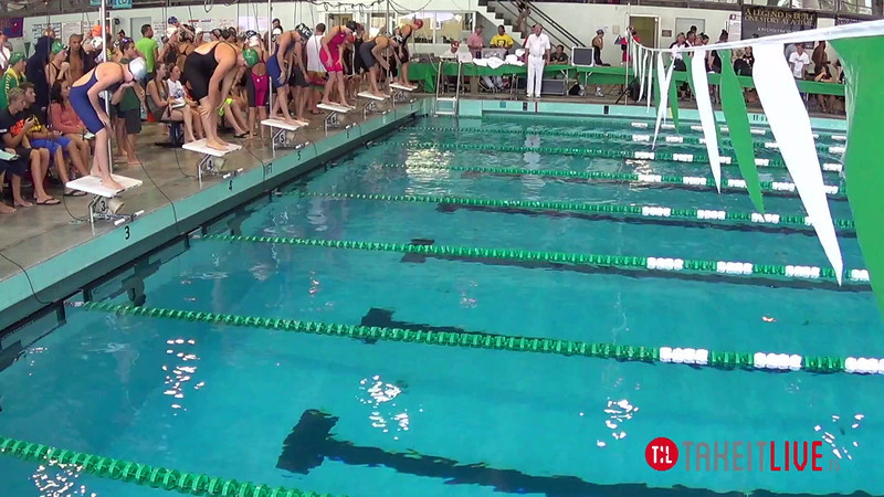 Women's 400 Freestyle Relay Heat 2 - 2014 CCCA Swimming and Diving State Championships