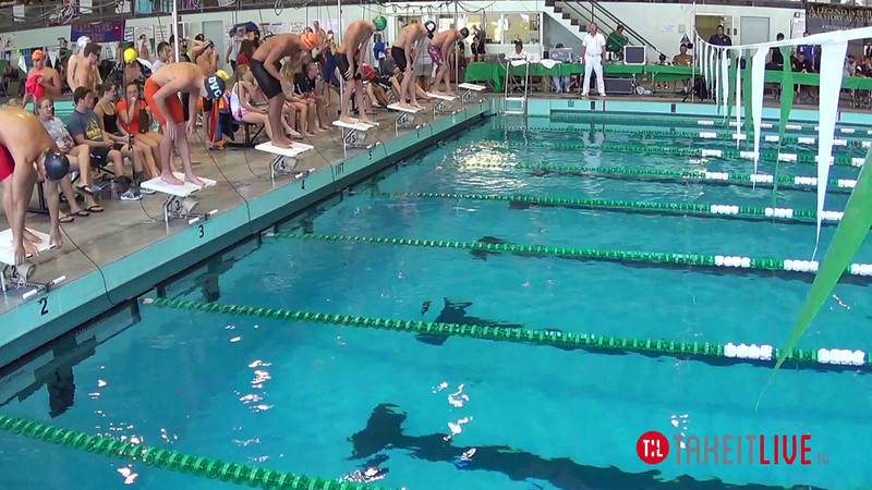 Men's 100 Butterfly Heat 2 - 2014 CCCA Swimming and Diving State Championships