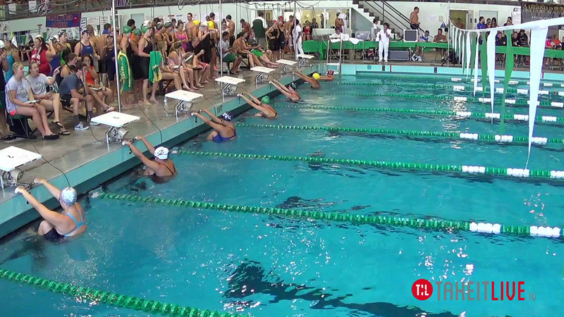 Women's 200 Medley Relay Heat 2 - 2014 CCCA Swimming and Diving State Championships