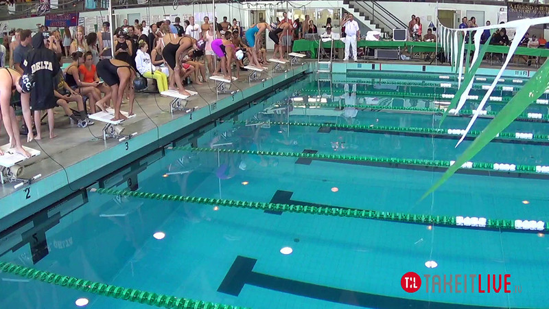 Women's 200 Freestyle Heat 1 - 2014 CCCA Swimming and Diving State Championships