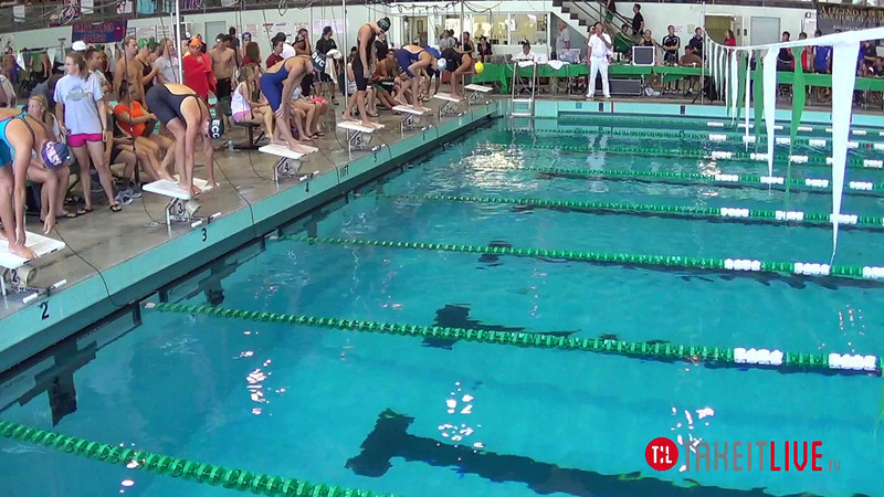 Women's 50 Butterfly Heat 3 - 2014 CCCA Swimming and Diving State Championships