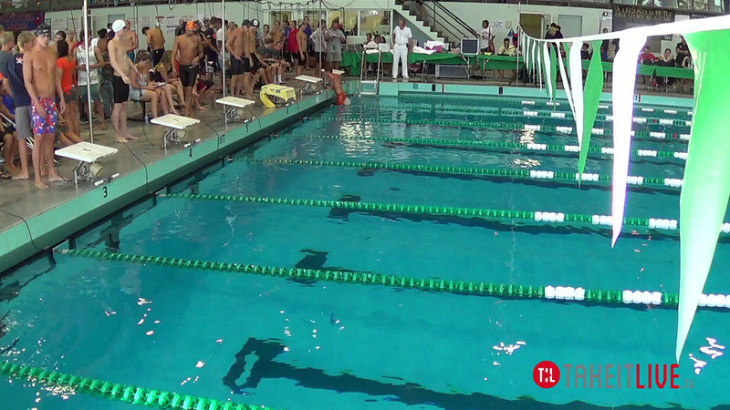 Men's 100 Butterfly A Final - 2014 CCCA Swimming and Diving State Championships