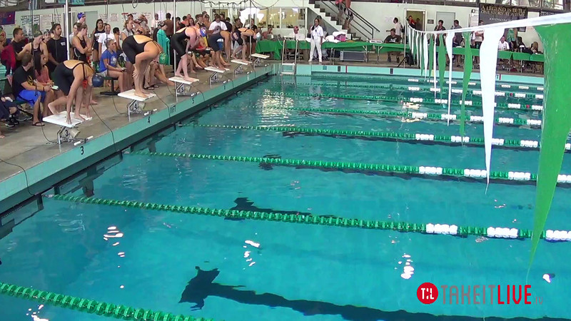Women's 100 Breaststroke Heat 2 - 2014 CCCA Swimming and Diving State Championships