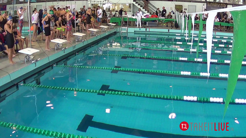 Women's 100 Breaststroke Heat 1 - 2014 CCCA Swimming and Diving State Championships