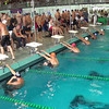 Men's 400 Medley Relay Heat 3 - 2014 CCCA Swimming and Diving State Championships