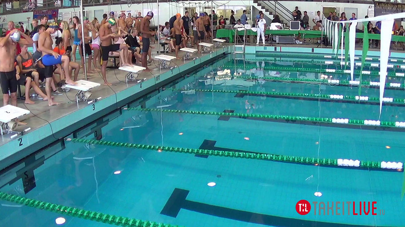 Men's 100 Breaststroke Heat 1 - 2014 CCCA Swimming and Diving State Championships