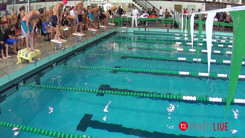 Men's 100 Freestyle Heat 4 - 2014 CCCA Swimming and Diving State Championships