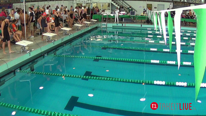 Women's 50 Breaststroke B Final - 2014 CCCA Swimming and Diving State Championships