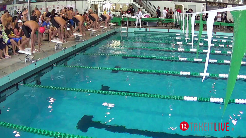 Men's 200 Breaststroke Heat 3 - 2014 CCCA Swimming and Diving State Championships