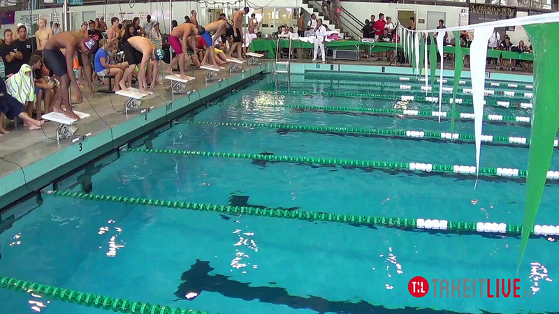 Men's 200 Breaststroke Heat 2 - 2014 CCCA Swimming and Diving State Championships