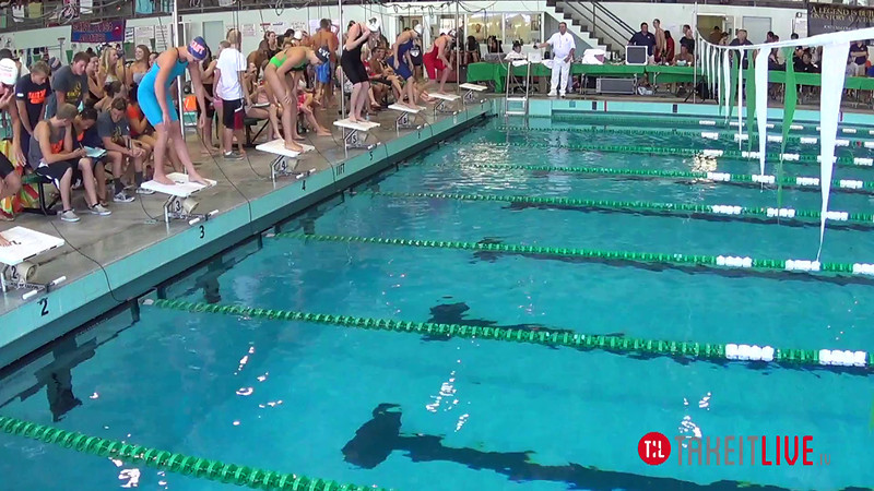 Women's 200 Freestyle Heat 3 - 2014 CCCA Swimming and Diving State Championships