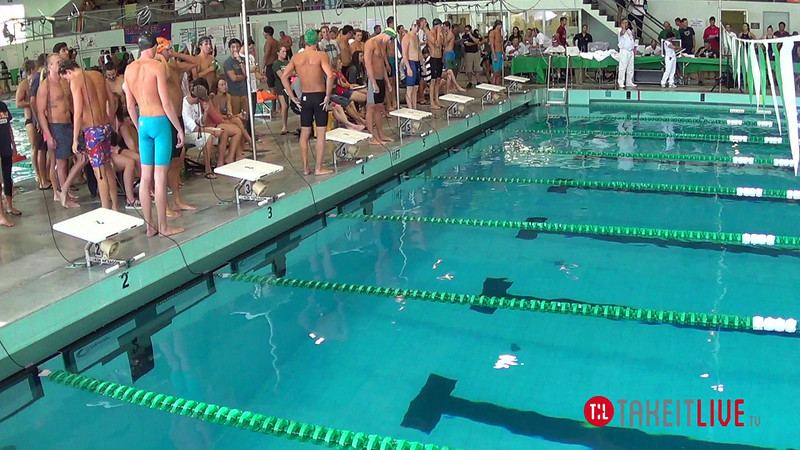 Men's 100 Freestyle A Final - 2014 CCCA Swimming and Diving State Championships