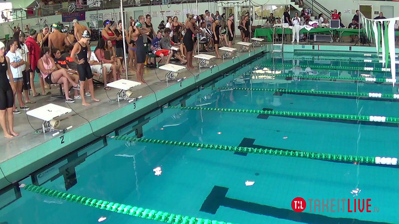 Women's 100 Breaststroke B Final - 2014 CCCA Swimming and Diving State Championships