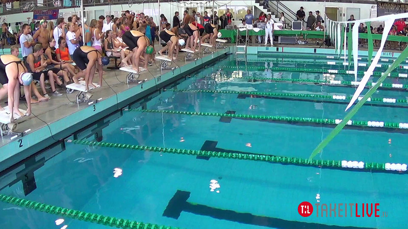 Women's 50 Breaststroke Heat 2 - 2014 CCCA Swimming and Diving State Championships