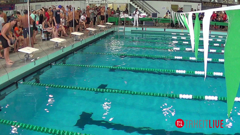Men's 100 Breaststroke A Final - 2014 CCCA Swimming and Diving State Championships