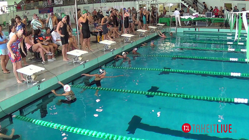 Women's 100 Breaststroke A Final - 2014 CCCA Swimming and Diving State Championships