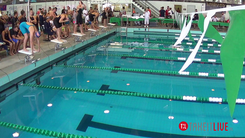 Women's 100 Butterfly Heat 1 - 2014 CCCA Swimming and Diving State Championships