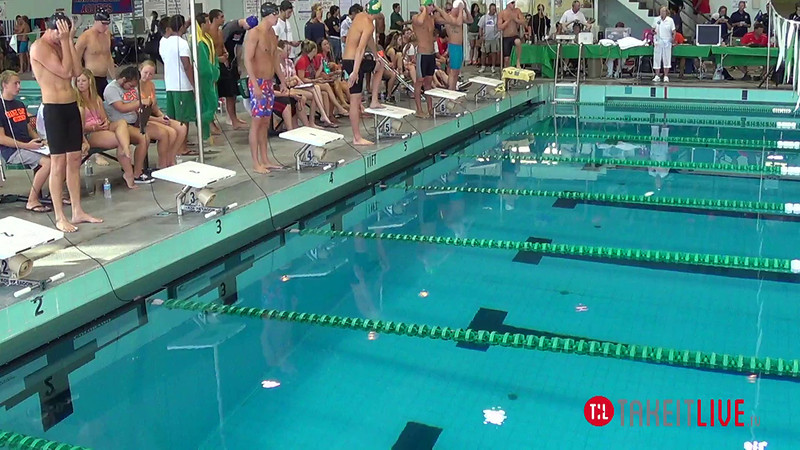 Men's 50 Freestyle B Final - 2014 CCCA Swimming and Diving State Championships