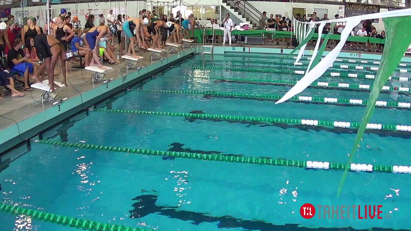 Women's 100 Breaststroke Heat 3 - 2014 CCCA Swimming and Diving State Championships