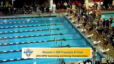 Event 5  Women 500 Yard Freestyle - B Final