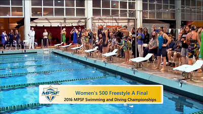 Event 5  Women 500 Yard Freestyle - A Final