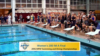 Event 7  Women 200 Yard IM - A Final