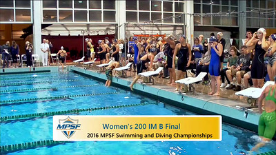Event 7  Women 200 Yard IM - B Final