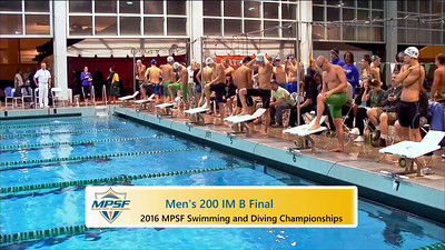 Event 8  Men 200 Yard IM - B Final