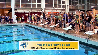 Event 9  Women 50 Yard Freestyle - B Final