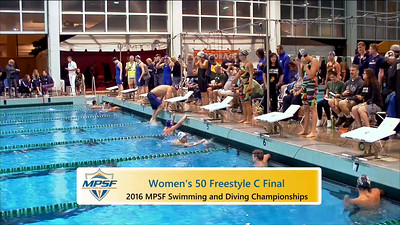 Event 9  Women 50 Yard Freestyle - C Final