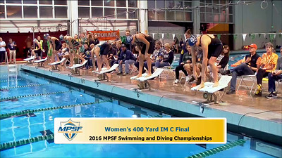 15 Womens 400 Medley - B Final