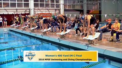 15 Womens 400 Medley - B Final