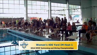 15 Womens 400 Medley - Heat 1