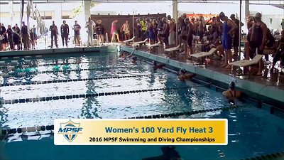 17 Womens 100 Breaststroke - Heat 3