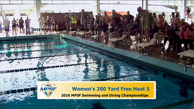 19 Womens 200 Freestyle - Heat 5